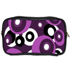 Purple Pattern Toiletries Bags 2 Side by Valentinaart