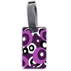 Purple Pattern Luggage Tags (one Side)  by Valentinaart