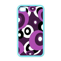 Purple Pattern Apple Iphone 4 Case (color) by Valentinaart