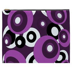 Purple Pattern Cosmetic Bag (xxxl)  by Valentinaart