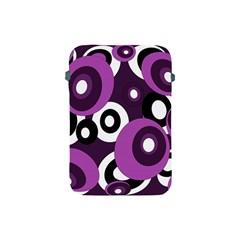 Purple Pattern Apple Ipad Mini Protective Soft Cases by Valentinaart