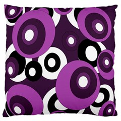 Purple Pattern Large Flano Cushion Case (one Side) by Valentinaart