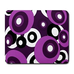 Purple Pattern Large Mousepads by Valentinaart