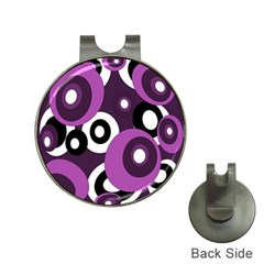 Purple Pattern Hat Clips With Golf Markers by Valentinaart