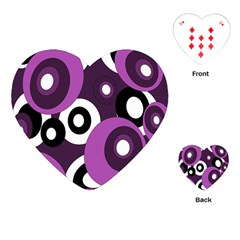 Purple Pattern Playing Cards (heart)  by Valentinaart