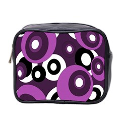 Purple Pattern Mini Toiletries Bag 2 Side by Valentinaart