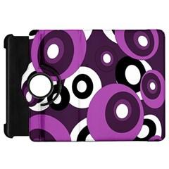 Purple Pattern Kindle Fire Hd Flip 360 Case by Valentinaart