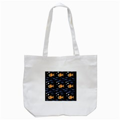 Fish Pattern Tote Bag (white) by Valentinaart