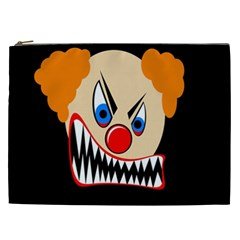 Evil Clown Cosmetic Bag (xxl)  by Valentinaart