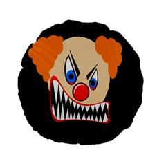 Evil Clown Standard 15  Premium Round Cushions by Valentinaart