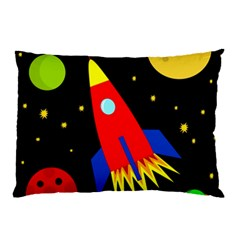 Spaceship Pillow Case (two Sides) by Valentinaart