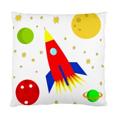 Transparent Spaceship Standard Cushion Case (one Side) by Valentinaart