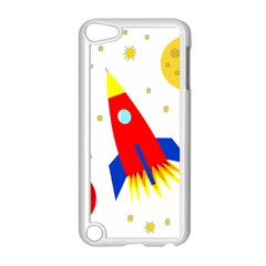 Transparent Spaceship Apple Ipod Touch 5 Case (white) by Valentinaart