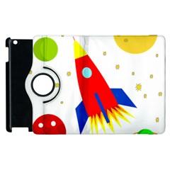 Transparent Spaceship Apple Ipad 2 Flip 360 Case by Valentinaart
