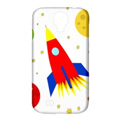 Transparent Spaceship Samsung Galaxy S4 Classic Hardshell Case (pc+silicone) by Valentinaart