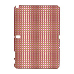Mod Pink Green Pattern Samsung Galaxy Note 10 1 (p600) Hardshell Case by BrightVibesDesign