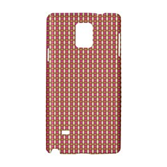Mod Pink Green Pattern Samsung Galaxy Note 4 Hardshell Case by BrightVibesDesign