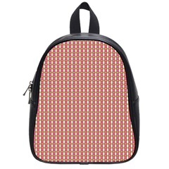 Mod Pink Green Pattern School Bags (small)  by BrightVibesDesign