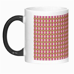 Mod Pink Green Pattern Morph Mugs by BrightVibesDesign