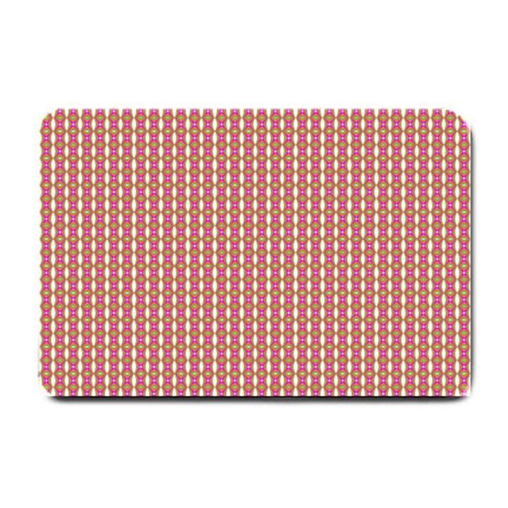 Mod Pink Green Pattern Small Doormat