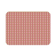 Mod Pink Green Pattern Double Sided Flano Blanket (mini)  by BrightVibesDesign