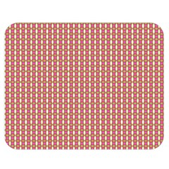 Mod Pink Green Pattern Double Sided Flano Blanket (medium)  by BrightVibesDesign