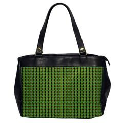 Mod Green Orange Pattern Office Handbags by BrightVibesDesign