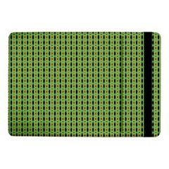 Mod Green Orange Pattern Samsung Galaxy Tab Pro 10.1  Flip Case by BrightVibesDesign