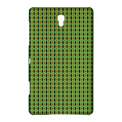Mod Green Orange Pattern Samsung Galaxy Tab S (8 4 ) Hardshell Case  by BrightVibesDesign