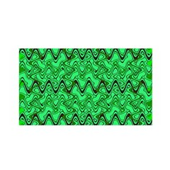 Green Wavy Squiggles Satin Wrap by BrightVibesDesign