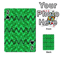 Green Wavy Squiggles Playing Cards 54 Designs  by BrightVibesDesign