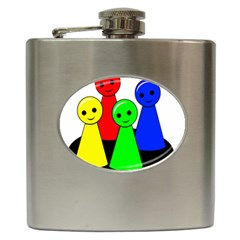Don t Get Angry Hip Flask (6 Oz) by Valentinaart