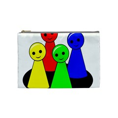 Don t Get Angry Cosmetic Bag (medium)  by Valentinaart