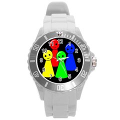 Don t Get Angry Round Plastic Sport Watch (l) by Valentinaart