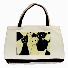 Chess Pieces Basic Tote Bag (two Sides) by Valentinaart
