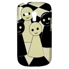 Chess Pieces Samsung Galaxy S3 Mini I8190 Hardshell Case by Valentinaart