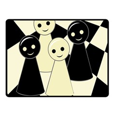 Chess Pieces Double Sided Fleece Blanket (small)  by Valentinaart