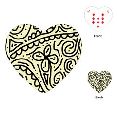Artistic Abstraction Playing Cards (heart)  by Valentinaart