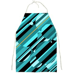 Blue Abstraction Full Print Aprons by Valentinaart