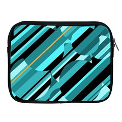 Blue Abstraction Apple Ipad 2/3/4 Zipper Cases by Valentinaart