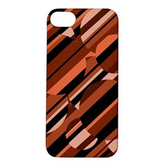 Orange Pattern Apple Iphone 5s/ Se Hardshell Case by Valentinaart