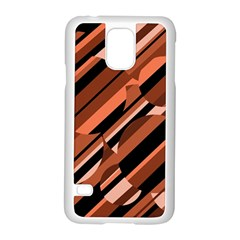 Orange Pattern Samsung Galaxy S5 Case (white) by Valentinaart