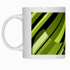 Green Pattern White Mugs by Valentinaart