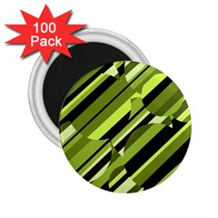 Green Pattern 2 25  Magnets (100 Pack)  by Valentinaart
