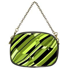 Green Pattern Chain Purses (two Sides)  by Valentinaart