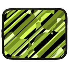 Green Pattern Netbook Case (xxl)  by Valentinaart