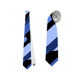 Blue pattern Neckties (Two Side)  by Valentinaart