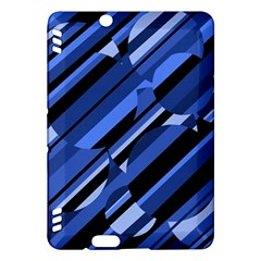 Blue pattern Kindle Fire HDX Hardshell Case by Valentinaart