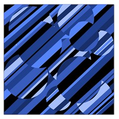 Blue Pattern Large Satin Scarf (square) by Valentinaart