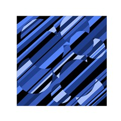 Blue Pattern Small Satin Scarf (square) by Valentinaart